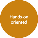 Hands-on oriented